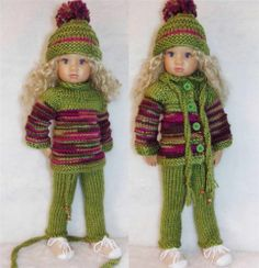 """SWEATER,HAT,PANTS,SCARF&SNEAKERS SET MADE FOR KIDZ  N CATS &SIMILAR SIZE18"""" DOLL"""