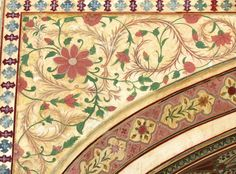 Detail of wall art from Amber fort, Jaipur