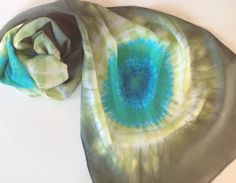 Shibori Hand dyed silk paj scarf by Artsbyartemis on Etsy Shibori, Watercolor Tattoo, Tie Dye, Dyed Silk, Hands, Trending Outfits, Tattoos, My Style, Unique Jewelry