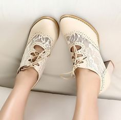 New arrival 2013 sweet vintage women's shoes cutout lace single shoes female high-heeled thick heel lacing shoes low-top on AliExpress.com. $19.44