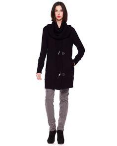 Sweater Coat & Slim Cargo Pants - Neiman Marcus