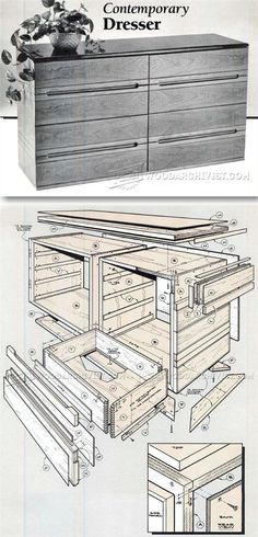 Contemporary Dresser Plans - Furniture Plans and Projects | WoodArchivist.com