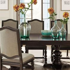 """Dining Table Top and Double Pedestal Dining Table Base 