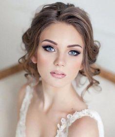 Amazing Wedding Makeup Tips – Makeup Design Ideas Wedding Makeup For Blue Eyes, Wedding Makeup Tips, Natural Wedding Makeup, Wedding Hair And Makeup, Bridal Hair, Hair Makeup, Bridal Makeup For Fair Skin, Bridesmaid Makeup Blue Eyes, Bridal Makeup For Blondes