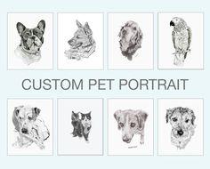 Custom pet portrait - Colour choice - Pet art - Pet memorial - Art gift for animal lovers - Custom pet gift - Dog lover art - Cat lover art Dog Lover Gifts, Dog Gifts, Nursery Name Art, Running Art, Signature Stamp, Pet Art, Sneaker Art, Pet Memorials, Star Wars Art