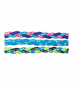 under armour headbands- her favorite sports accessories! These are pretty colors