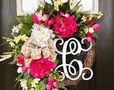 On Sale NEW Spring Wreath for Front Door Front Door Wreaths