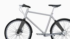 Biomega's lightweight commuter with integrated lights and mudguards