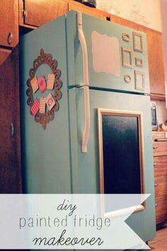 Decoración vintage para refrigerador