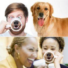 Funny Ceramic Mug Doggie Nose or Heart Nose Pig #miniaturepinscherlovers