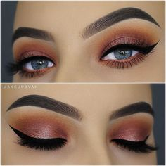 HOLY CRAP. People ACTUALLY think that THAT looks good!? Wow...... just wow...... FIRST! The eyebrows look SUUUUUUUPPPERRR fake, the ethe skin looks way too powdery the cat eye is too large, there is WAAAY too much mascara. Honestly, I hate it..... just too much everything, and nothing looks natural. Everything looks fake.