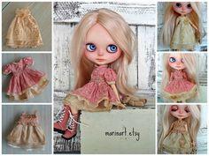 shabby, grunge art wear for Blythe girls by Marina, Petite Apple