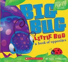 Big Bug, Little Bug, A Book Of Opposites By Paul Stickland, 9780545253802., Literatura dziecięca