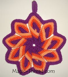 crochet potholder pattern free