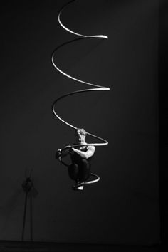 "I want to try this.      ohellgirl:    ""…Lee Claydon trying out incredible new aerial equipment 'The Gyre', invented by…Tanya Brno… Yeats said the Gyre was a means to connect with the source condition, that Divine Dimension where there is no difference between anyone or any thing, where there is only that very One."""