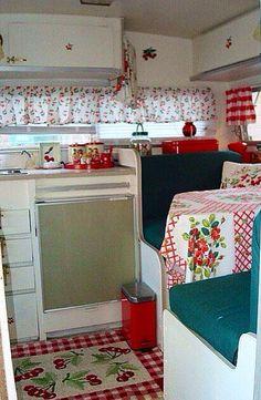 Shabby Chic Kitchen in camper