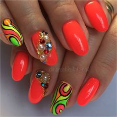 Гель лак #lianail #пылкийарбуз🍉 #swarovskicrystals , база и топ #kodi #ногти_sitdikovadinara Love Nails, My Nails, Mani Pedi, Manicure, Pedi Perfect, Hair Skin Nails, Nail Envy, Natural Eyes, Stiletto Nails