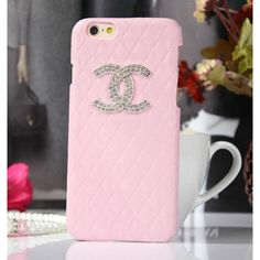 Coque iPhone 6 Chanel,Housse Bling Strass iPhone6 4.7-rose 2