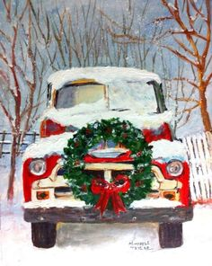 christmas pictures if the old red truck - Yahoo Search Results