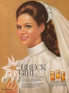 From 1957 to 1976 Ralph William Williams was the official illustrator of the Breck Girls, the romantic women with pretty hair from Breck Shampoo advertising campaign. Retro Advertising, Vintage Advertisements, Vintage Ads, Advertising Campaign, Retro Ads, Shampoo Advertising, Vintage Photos, Vintage Stuff, Vintage Posters