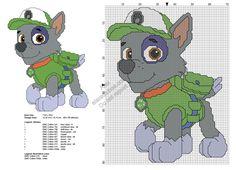 Paw Patrol Rocky free cross stitch pattern 69x89