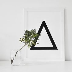 """PRINT """"Geometrical Letters"""" ABC ... A3 Poster"""