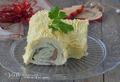 Tronchetto di Natale salato senza cottura, un antipasto delle feste facile, velocissimo e con pochi ingredienti, ricetta veloce per Natale