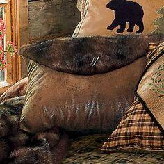 Alpine Bear Brown Bear Faux Fur Pillow - looks like the fabric I have already