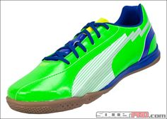 Puma evoSPEED 5 IT Indoor Soccer Shoes - Green with White...$53.99