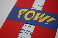 Pow! Super Hero Party Invitations