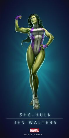 (She Hulk Puzzle Quest) By: Gabriel DellO'tto ®. Marvel Comics Art, Hulk Marvel, Marvel Heroes, Anime Comics, Spiderman, Comic Movies, Comic Book Characters, Marvel Characters, Hulk Poster
