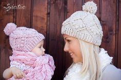 Ravelry: Family Cable Hat Crochet Pattern pattern by Viktoria Gogolak. I don't usually purchase patterns online but I might consider this one! Crochet Baby Hat Patterns, Crochet Kids Hats, Crochet Beanie Hat, Crochet Ideas, Crochet Projects, Crochet Gloves, Lion Brand Wool Ease, Crochet Cable, Knitting Accessories