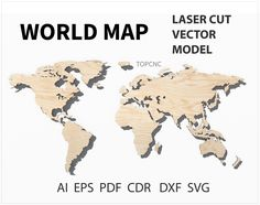 World map laser cut file world map vector digital download sv world map laser cut file world map vector digital download svg png dxf gumiabroncs Choice Image