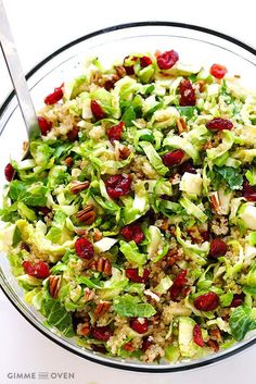 Vegan Brussel Sprout Recipe With Cranberries.Brussels Sprouts Cranberry And Quinoa Salad. Roasted Brussels Sprouts And Squash With Dried Cranberries . Brussels Sprouts Cranberry And Quinoa Salad. Home and Family Cranberry Quinoa Salad, Quinoa Salad Recipes, Vegetarian Recipes, Cooking Recipes, Healthy Recipes, Quinoa Recipe, Healthy Brussel Sprout Recipes, Best Brussel Sprout Recipe, Cooking Tips