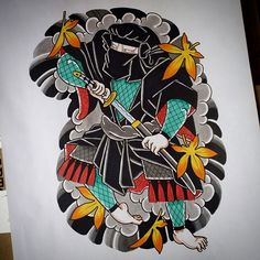 Ninja half sleeve design :) #tattoodesign #tattooart #ninja #shinobi #ninjatattoo #shinobitattoo #traditionaltattoos #japanesetattoo #japanesetattooart #japanesetattoos #melbournetattoo #amsterdamtattoo #tattooamsterdam