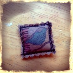 ❥ fabric ring~ rubber stamp fabric with permanent ink