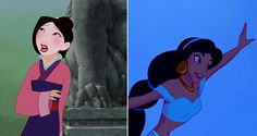 Characters Were Voiced by the Same Person - Lea Salonga – Princess Jasmine and Mulan (Singing) Humor Disney, Disney Nerd, Disney Diy, Cute Disney, Disney Girls, Disney Pixar, Walt Disney, Disney Stuff, Disney Magic