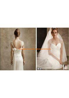 Schlicht Bodenlange Brautkleid 2013 aus Chiffon