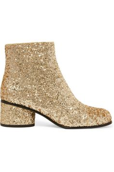 MARC JACOBS | Camilla glittered leather ankle boots