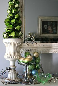Love the oversized bells structured in a vintage looking pot