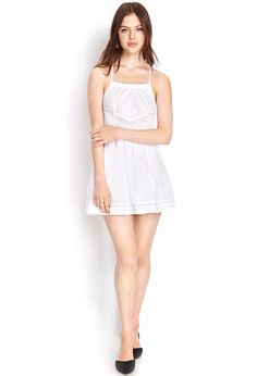 Embroidered Cotton Fit & Flare Dress | FOREVER21 - 2000061697