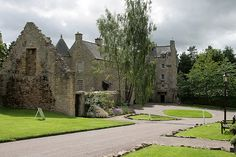 Ferniehirst Castle, Scotland: Castle of Clan Kerr. Kerrs have typically been associated with left-handedness; some of their buildings (such as Ferniehirst Castle) have been explicitly designed with this in mind.