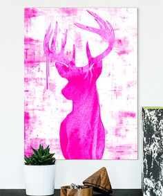 Look at this #zulilyfind! Pinks Endeering Wrapped Canvas by Palm Valley #zulilyfinds