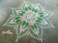 Colour Rangoli, Kolam Rangoli, Beautiful Rangoli Designs, Floor Art, Dots, Tapestry, Color, Home Decor, Stitches