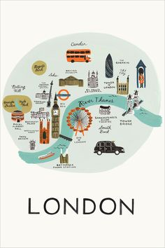 LONDON - Travel map