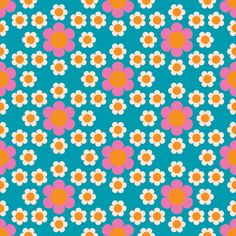 daisy_chain_blue_large fabric by aliceapple on Spoonflower - custom fabric