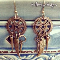 Hey, I found this really awesome Etsy listing at https://www.etsy.com/listing/156652740/steampunk-gears-keys-wings-and-spikes