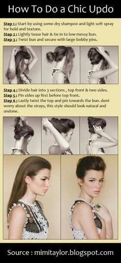How To Do a Chic Updo | PinTutorials