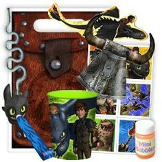 How to Train Your Dragon 2 Favor Packs Dragon Birthday Parties, Dragon Party, Dragon 2, 3rd Birthday, Birthday Ideas, Toothless Party, Discount Party Supplies, Party Themes, Party Ideas