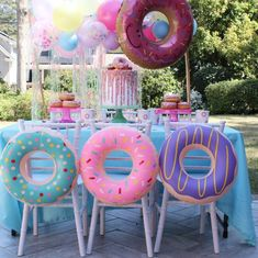 Life is better with Donuts! Our Donut Collection is truly adorable! - First Birthday Party Ideas for Girls - Donuts Donut Party, Donut Birthday Parties, 1st Birthday Girls, Birthday Fun, Candy Theme Birthday Party, Birthday Ideas, Donut Decorations, Birthday Party Decorations, Donuts